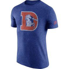 Nike Denver Broncos Heathered Retro Logo Tri-Blend T-Shirt