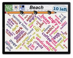 """Word Mess: Find 10 words in category """"Beach"""""""