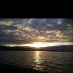 Sunset overlooking Tillamook bay
