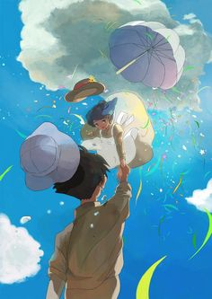 The wind rises fan art Hayao Miyazaki, Studio Ghibli Art, Studio Ghibli Movies, Le Vent Se Leve, Grave Of The Fireflies, Wind Rises, Japanese Animated Movies, Film Anime, Rise Art