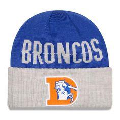 fa4fed7a2 Mens   Womens Denver Broncos New Era 2016 NFL Fashion Blue   Heather Gray  Classic Cover. Knit HatsBeanie ...