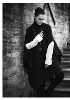 Sarah Pacini poncho--with sleeve openings