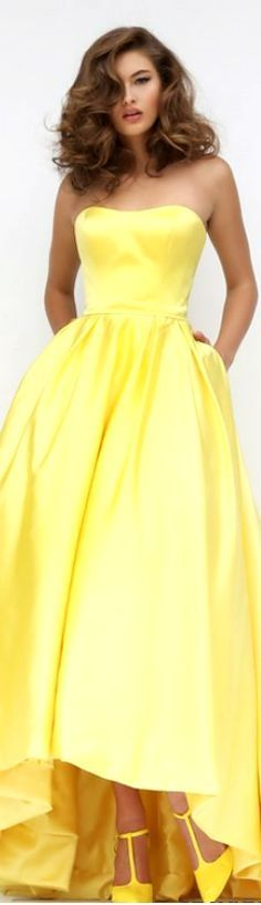 Sherri Hill yellow dress women fashion outfit clothing style apparel @roressclothes closet ideas
