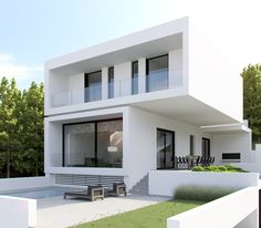 Architektur Best Ideas For Modern House Design : – Picture : – Description Cube on Cube by eDje arch Minimalist House Design, Minimalist Home, Modern House Design, Modern House Plans, Small House Plans, Small Modern Houses, Open Plan Apartment, Facade House, House Facades
