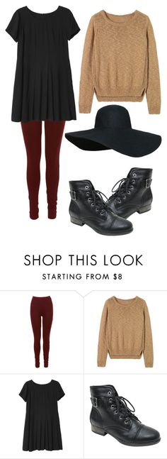 """violet harmon inspired outfit"" by shakensoul ❤ liked on Polyvore featuring Toast, Monki and Madden Girl"