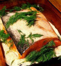Gravlax recipe Recette de gravlax Seaweed Salad, I Foods, Ethnic Recipes, Salmon, Recipe