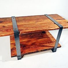 Reclaimed Timber Table, Steel Frame by Louis Andracchio
