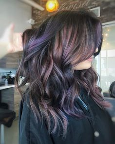 Iridescent lilac Balayage. What would you name this color ? #HairByLarisaLove #LicensedToCreate
