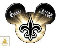 Disney New Orleans Saints NFL Mickey Mouse Disneyland by Pennyring