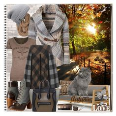 """""""Grey & Brown"""" by fantasiegirl ❤ liked on Polyvore featuring WALL, True Religion, Etro, Ethimo, Bobbi Brown Cosmetics, Sif Jakobs Jewellery, Olivier Desforges, Timberland and The North Face"""