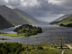 Highlanders' Statue on the Edge of Loch Shiel During a Rain Storm Photographic Print by Jim Richardson at AllPosters.com