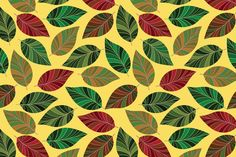 Background of leaves. Seamless. by katykin on @creativemarket