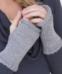 Really Easy Wristers Knitting Pattern *I've made a pair of these. Super easy to do. I added some ribbing around the finger opening too as a variation, and they look great. *