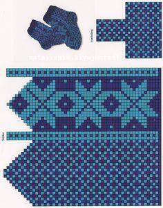Knitted Slippers, Knit Mittens, Mitten Gloves, Knitting Socks, Hand Knitting, Tapestry Crochet Patterns, Knitting Patterns, Norwegian Knitting, Knit Rug