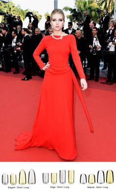 Cannes red carpet + Bohem nails