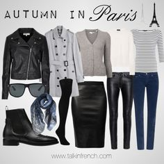 10 Tips on How to Pack for your Vacation in France : packing autumn in Paris Paris Outfits, Mode Outfits, Casual Outfits, Paris In Autumn, London Winter, Winter Europe, Europe Travel Outfits, Travel Wardrobe, Paris In September