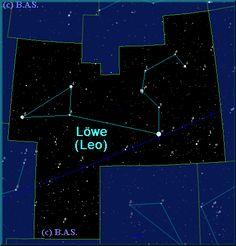 Lexikon der Sternbilder: Sternzeichen Löwe (leo)