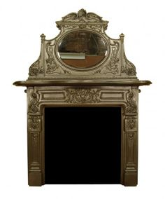 ORNATELY DECORATED CAST IRON FIRE SURROUND - UK Architectural Heritage