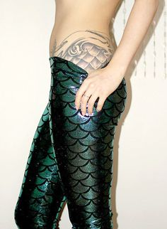 Pisces: Fish-scale tattoo and leggings, for #Pisces.