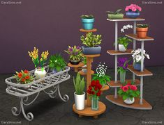 Flower stands Sims 4 objects