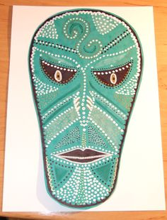 výzva den 19. - maska (ála aboriginiové)