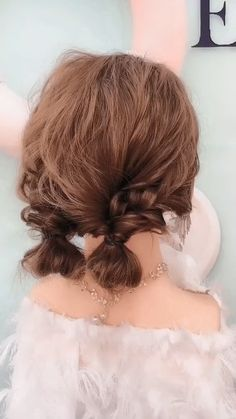 Casual hairstyles _ hairstyles for medium length hair, easy hairstyles, hairstyles for school, prom hairstyles, wedd. Short Hair Styles Easy, Medium Hair Styles, Curly Hair Styles, Short Hair Updo Easy, Hairstyle Short, Buns For Long Hair, Two Buns Hairstyle, Short Hair Hacks, Short Ponytail