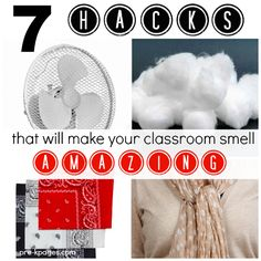 7 Ways to Make Your Classroom Smell Amazing! Tips for Keeping Your Classroom Smelling Fresh without Harsh Chemicals.