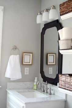 grey bathroom walls