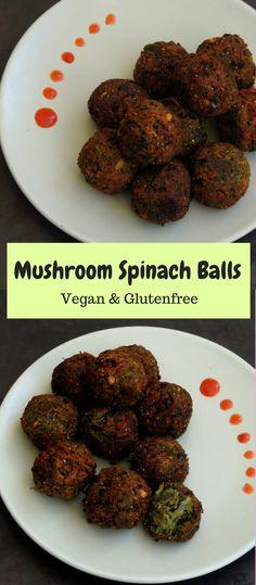 Mushroom & Spinach Balls/Kaalan Keerai Kola Urundai