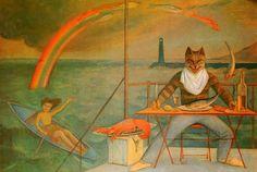 BALTHUS, THE CAT OF LA MÉDITERRANÉE, 1949.