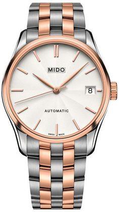 f4ba3dd97d90 Ladies  MIDO® Belluna II Automatic Two-Tone Watch with White Dial (Model   M024.207.22.031.00)