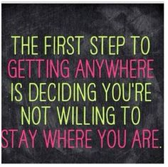Take that first step...don't hesitate! Become your best possible self!