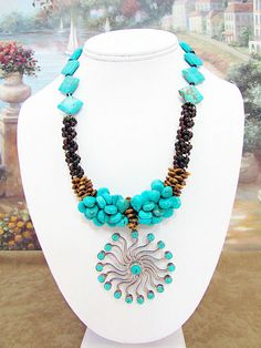 Turquoise Pendant Necklace – T10 by daksdesigns on Etsy