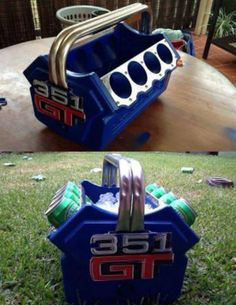 Beer Cooler Engine, Shut Up And Take My Money // funny pictures - funny photos - funny images - funny pics - funny quotes - Car Part Furniture, Automotive Furniture, Automotive Decor, Furniture Plans, Kids Furniture, Automotive Group, Garage Furniture, Furniture Chairs, Recycled Furniture
