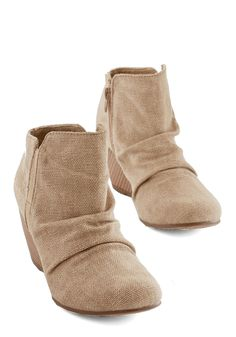 Make Today Great Bootie. With these sand-hued wedges by Blowfish waiting to be worn, you practically jump out of bed and into their stylish silhouettes! Ankle Booties, Bootie Boots, Make Today Great, Cute Wedges, Cute Boots, Vintage Boots, Crazy Shoes, Bearpaw Boots, Girls Shoes