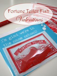 Fortune Teller Fish Valentines - They bring back such nostalgic memories!