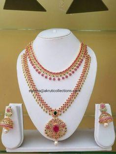 Silver Jewellery Indian, Gold Jewellery Design, Ruby Jewelry, Bridal Jewelry, Gold Jewelry Simple, Necklace Designs, Gold Necklace, Fashion Jewelry, Arabic Jewelry