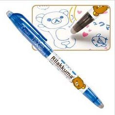 The Rilakkuma Pilot FriXion 0.5 mm Gel Pen is cuteness, functionality, and smooth-writing all wrapped into one! Available in five colors, this pen features Rilakkuma relaxing with some of its favorite things – candy, pancakes, and more food!