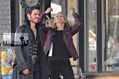 SHOOT: ONCE UPON A TIME's #CaptainSwan (Colin O'Donoghue & Jennifer Morrison) in Steveston