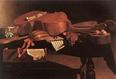 Evaristo Baschenis, Instruments de musique, huile sur toile, 98,5x147 cm, Bruxelles, Musée des Beaux-Arts