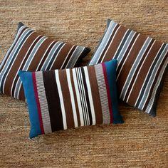 striped pillows in alpaca