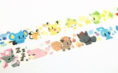 Pokemon party II washi tape by Meowashitape on Etsy Pokemon Party, Wraps, Gift Wrapping, Kids Rugs, Paper, Handmade Gifts, Washi Tapes, Fox, Etsy