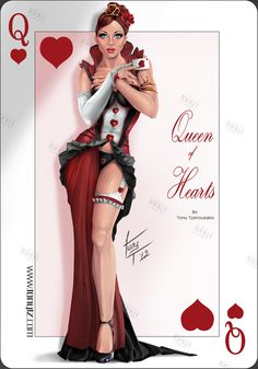 QUEEN of HEARTS by tony-tzanoukakis on deviantART