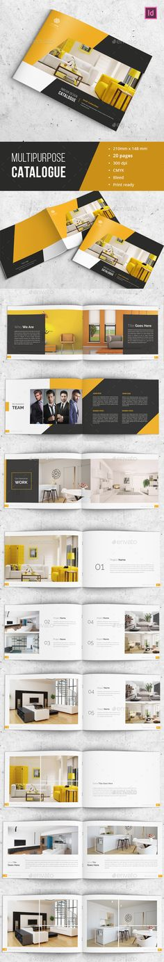 Modern Indesign Catalogue Template INDD. Download here…