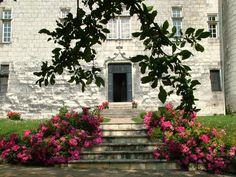 The castle door is wide open to welcome you.
