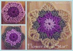flower or a star #crochet tutorial
