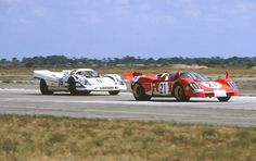 Ferrari 512S vs Porsche 917K at Sebring 1970