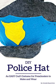 I need to make this DIY Police Hat Tutorial for Preschool Pretend Play and Learning
