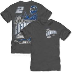 NASCAR The Game Brad Keselowski 2012 NASCAR Sprint Cup Series Comic Champion T-Shirt - Gray (Large) by The Game. $24.95. The Game Brad Keselowski 2012 NASCAR Sprint Cup Series Comic Champion T-Shirt - GrayRib-knit collarScreen print graphicsOfficially licensed NASCAR productLightweight ribbed T-shirtLightweight ribbed T-shirtScreen print graphicsRib-knit collarOfficially licensed NASCAR product