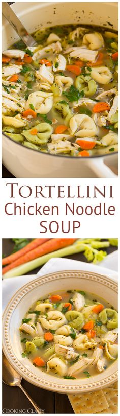 Tortellini Chicken Noodle Soup - this is so easy to make and seriously delicious! A simple 30 minute meal that you will LOVE!
